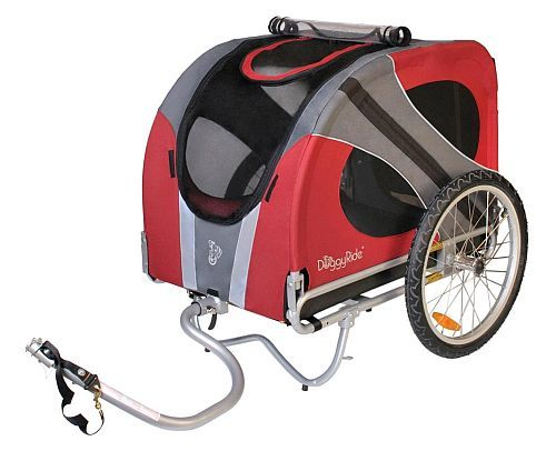 Hondenfietskar DoggyRide, NOVEL Rood